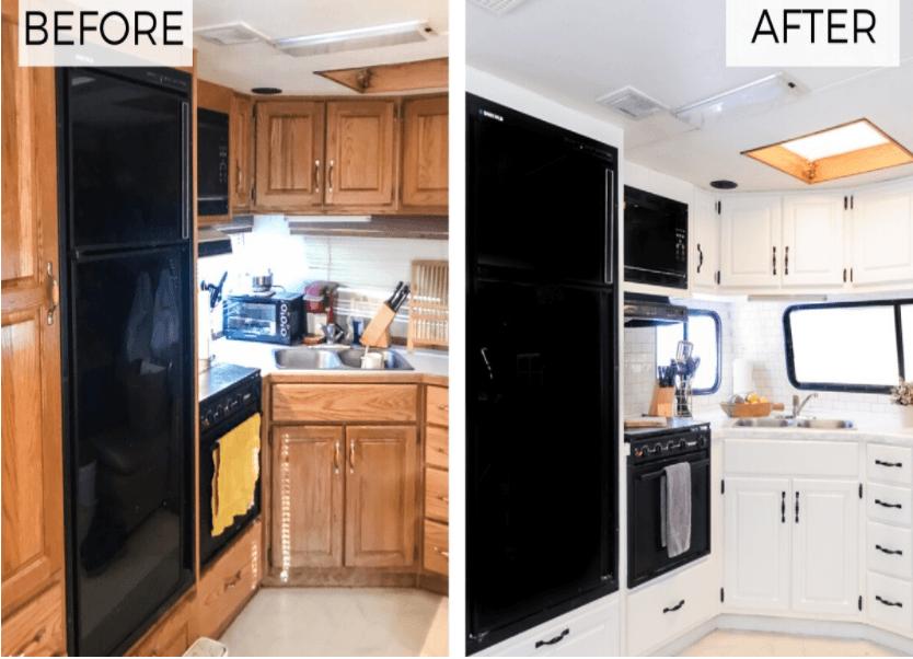 Hướng dẫn sơn tủ nhà bếp cũ thành mới