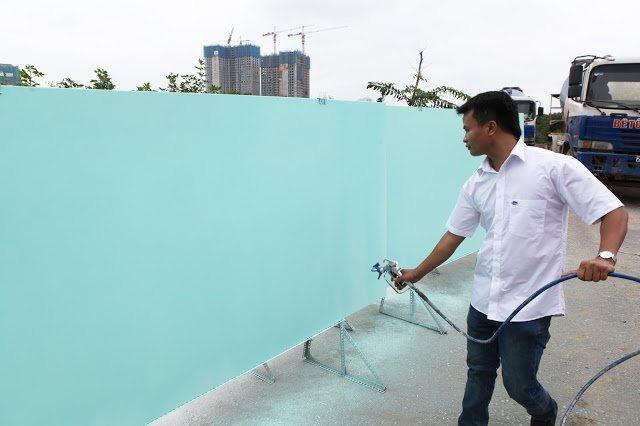 Thi công máy phun sơn mang lại hiệu quả cao trong công việc