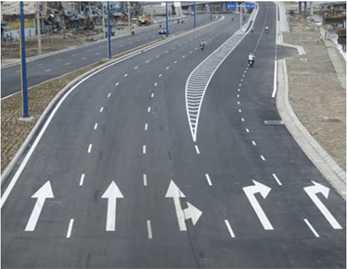 kẽ vạch giao thông cầu đường