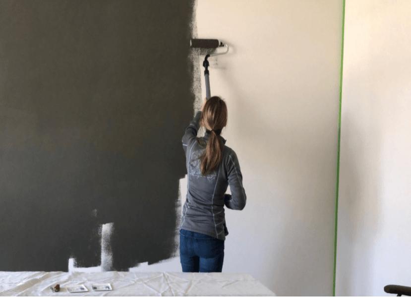 tự tay sơn tường